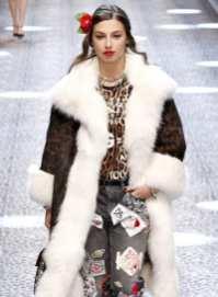 Модная шуба Dolce&Gabbana Милан 20182017