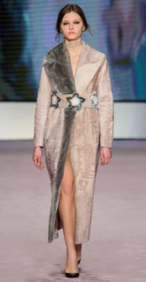 модная итальянская длинная шуба Гавацци Милан