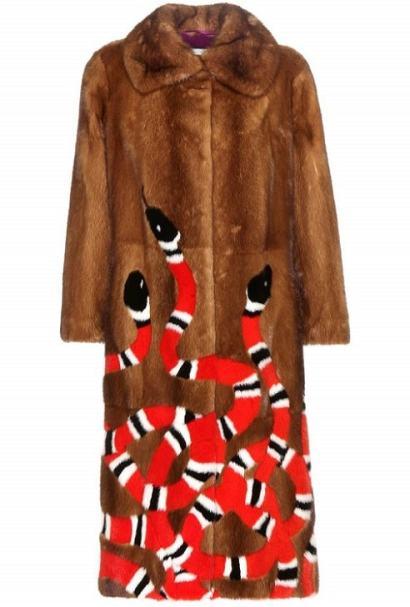 модные дизайнерские шуба Гуччи зима 2017 2018