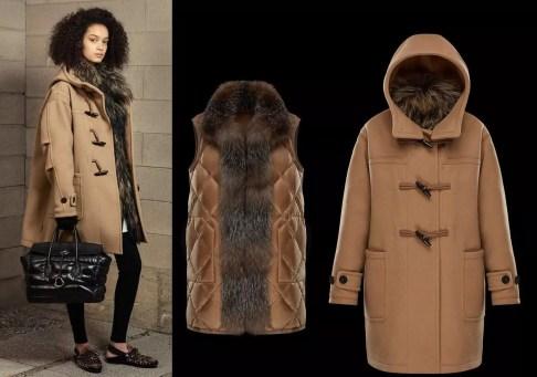 модный пуховик + пальто Монклер зима 2018