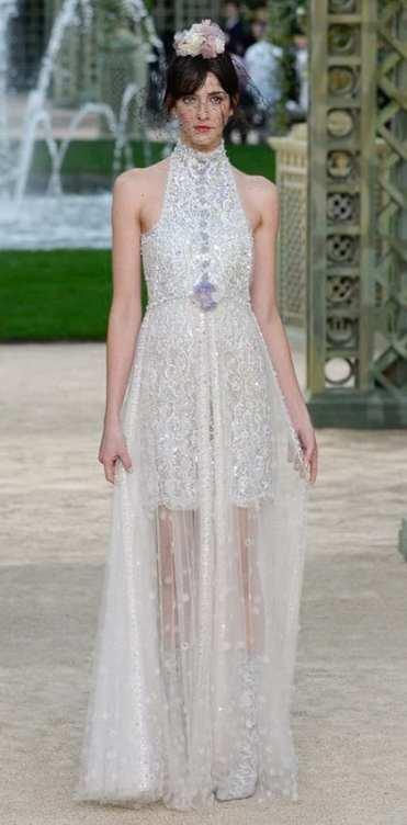 свадебное платье Шанель 2018