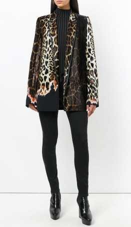 Haider ackermann модный леопардовый принт пальто 2018