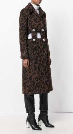 модный леопардовый принт пальто 2018