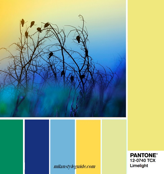 модные цветовые палитры Пантон осень зима 2018 12-0740 Limelight