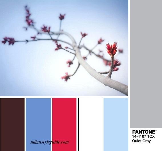 color fashion trend combination PANTONE 14-4107 Quiet Gray fashion trend Fall 2018 модный базовый тихий серый цвет