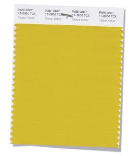 PANTONE 15-0850 Ceylon Yellow