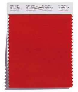 PANTONE 18-1549 Valiant Poppy