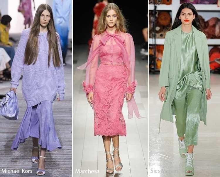fashion trend spring 2018 один цвет