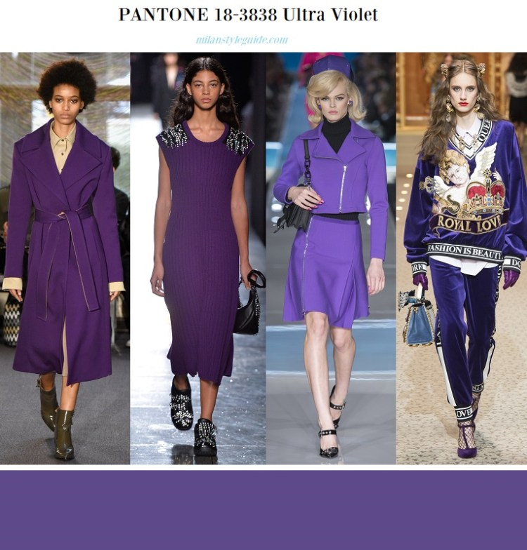 color fashion trend fall 2018 2019 PANTONE 18-3838 Ultra Violet