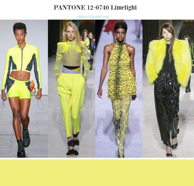 color fashion trend fall 2018 2019 Panton 12-0740 Limelight
