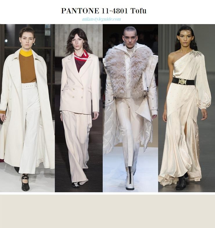 модные цвета осень зима 2018 2019 Пантон - белый тофу