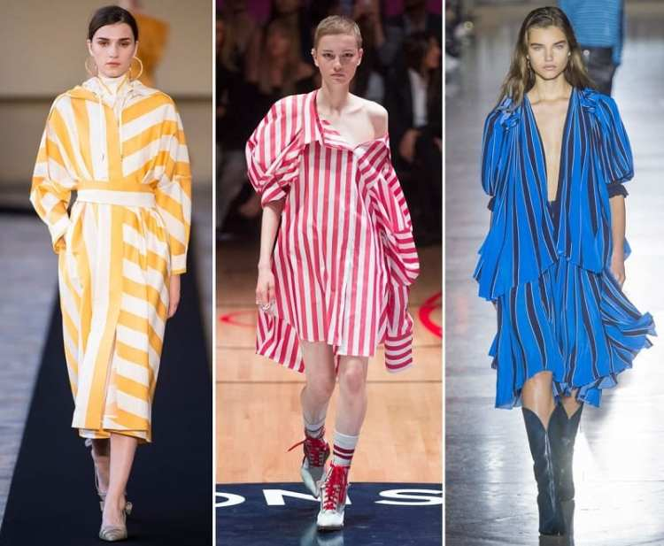 fashion trend SS 2018 stripes