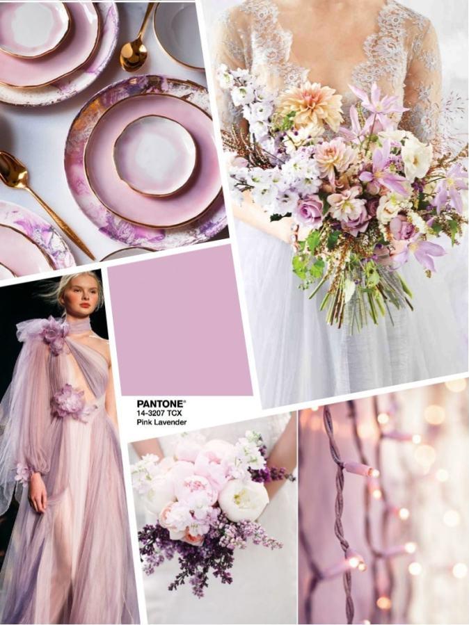 Цвет свадьбы 2018 - розово сиреневый Pink Lavender
