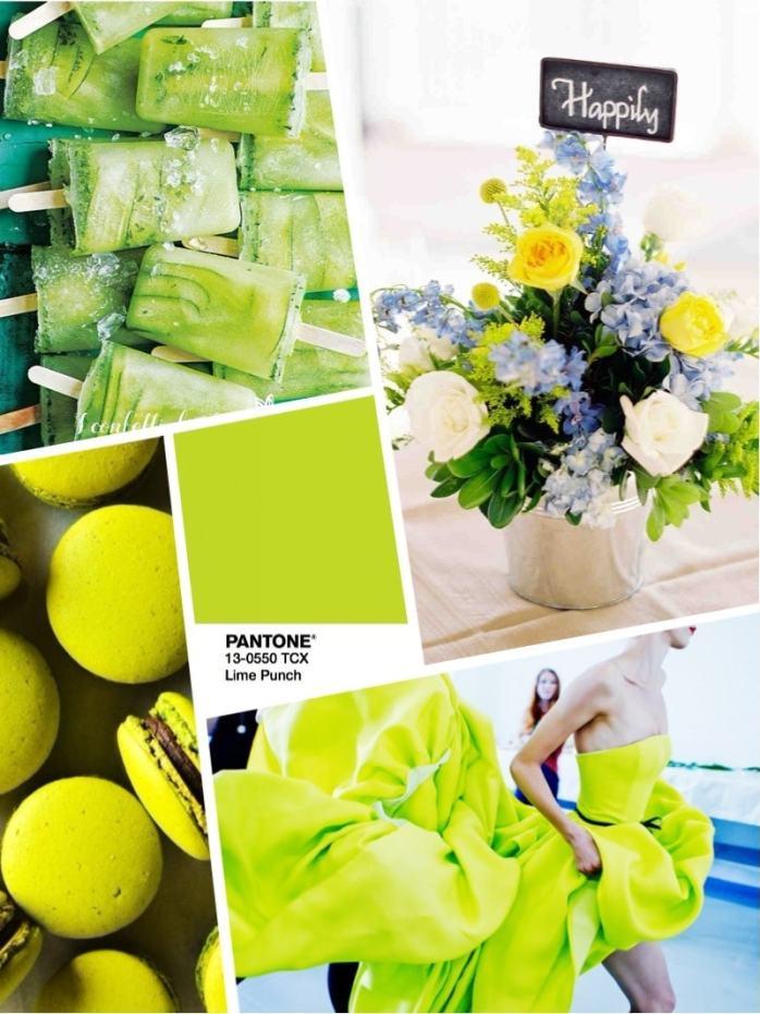 Color wedding 2018 PANTONE 13-0550 Lime Punch -Цвет свадьбы 2018 – желтый Lime Punch