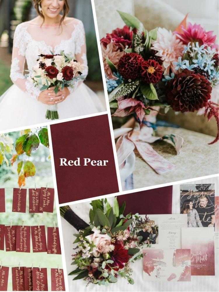 Red pear Pantone цвет свадьбы осень зима 2018 - 2019 модный цвет