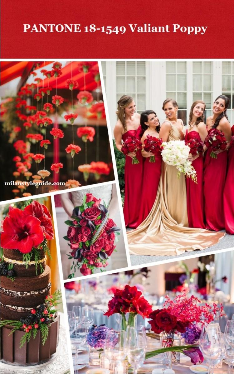Panton Valiant Poppy цвет свадьбы осень зима 2018 - 2019 модный цвет
