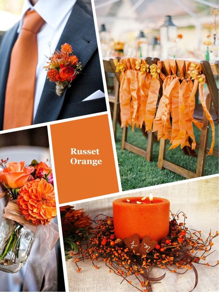 Pantone Russet Orange цвет свадьбы осень зима 2018 - 2019 модный цвет