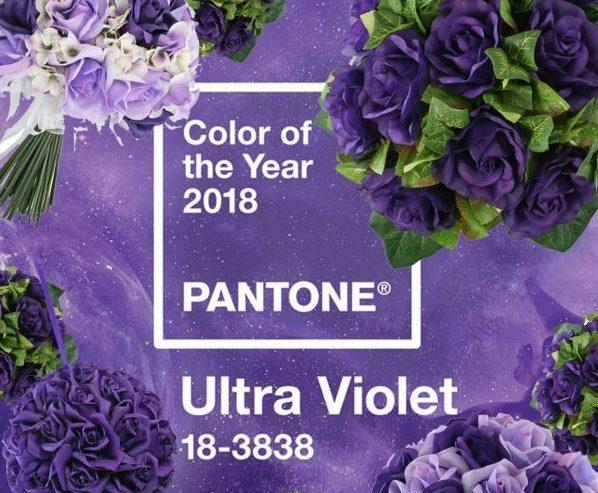 цвет года 2018 ультравиолет от пантон - цвет свадьбы
