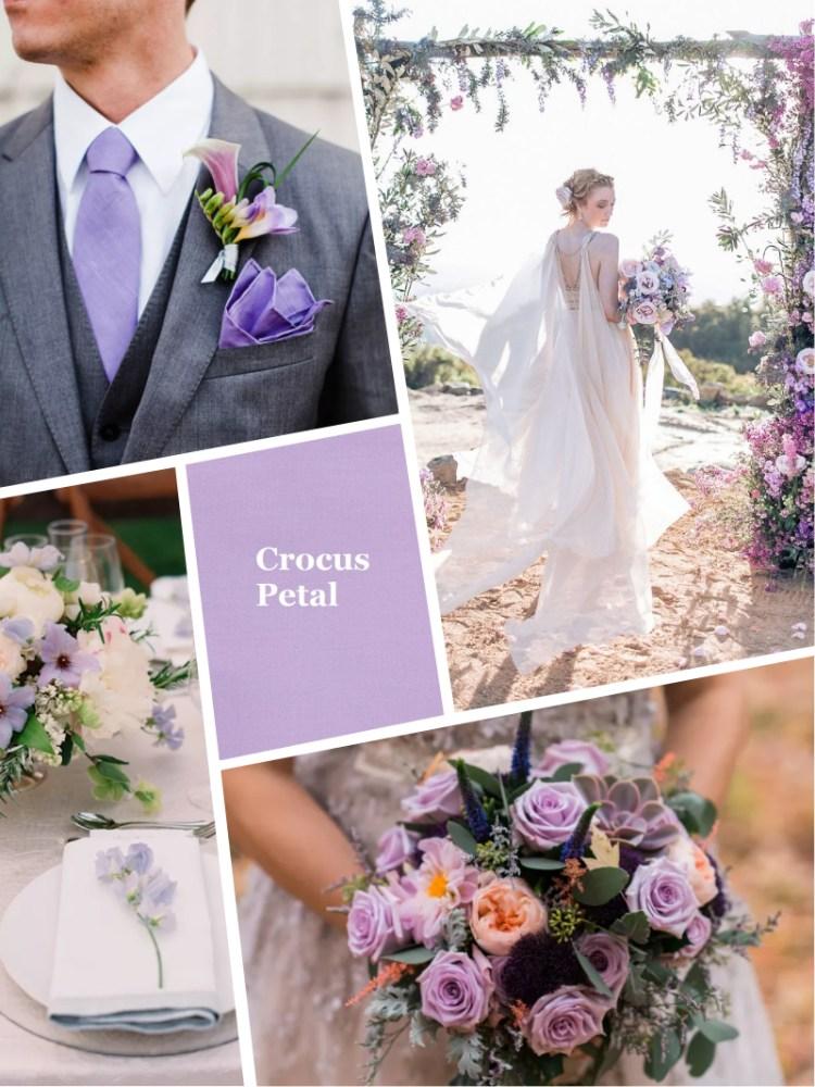 Crocus Petal pantone цвет свадьбы осень зима 2018 - 2019 модный цвет