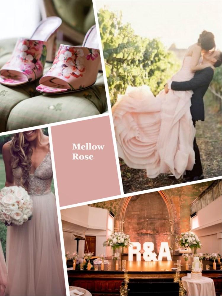 Mellow Rose Pantone цвет свадьбы осень зима 2018 - 2019 модный цвет