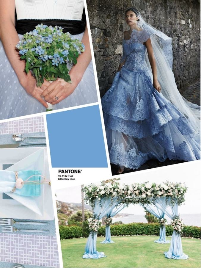 цвет свадьбы 2018 - wedding color PANTONE Little Boy Blue