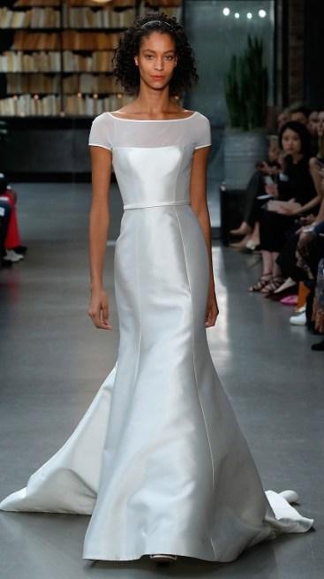 amsale bridal fall 2019 модное свадебное платье 2019 тенденция вырез лодочка
