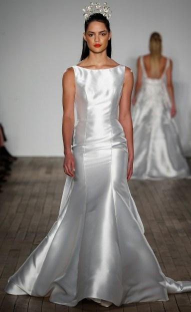 Anne Barge модное свадебное платье 2019 тенденция вырез лодочка