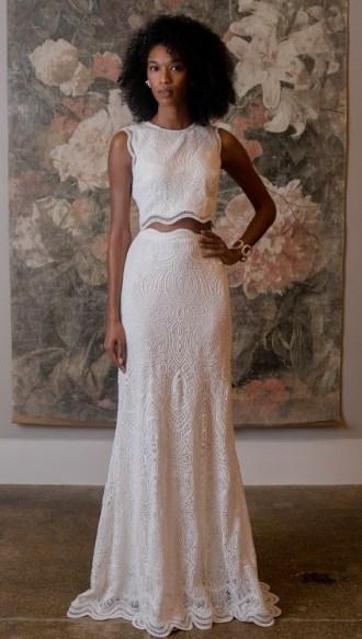 модные свадебные платья 2019 тенденция crop top bhldn wedding dresses spring 2019