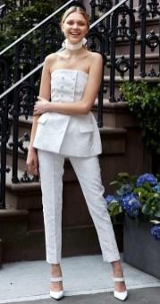 модный свадебный наряд с брюками 2019 lela rose