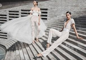 naeem khan fall 2019 самые модные свадебные образы - свадебный наряд с брюками или комбинезон