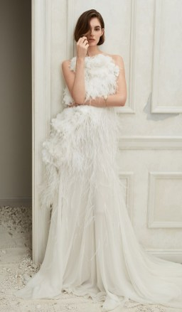 Oscar de la Renta Самые модные свадебные платья 2019 с американской проймой