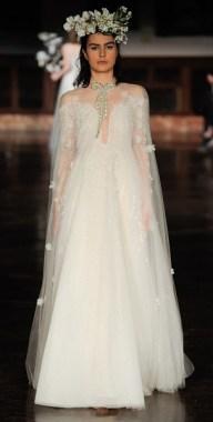 свадебные платья 2019 модные тенденции - красивое пышное свадебное платье
