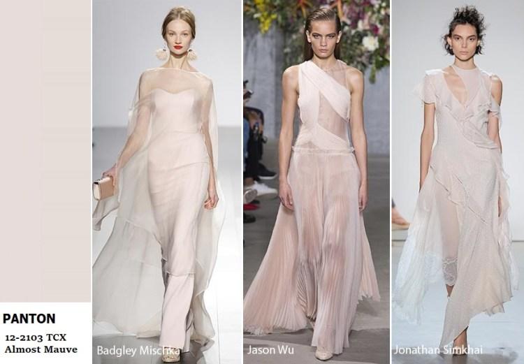 модный цвет весны и лета в одежед trends almost mauve