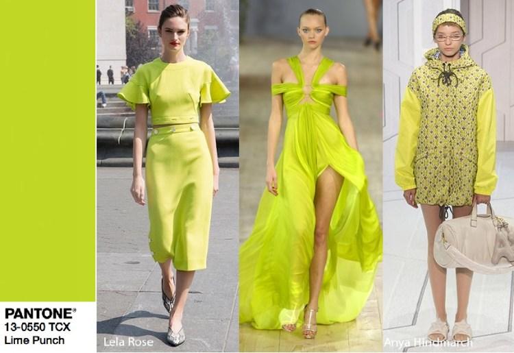 Желтый Lime Punch тренд цвет 2018 Пантон