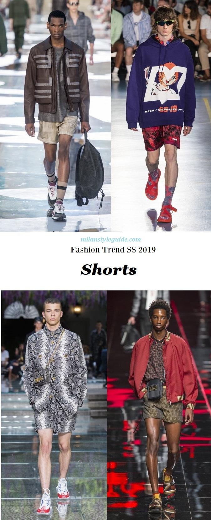 модная тенденции 2019 Fashion trend men 2019 Shorts