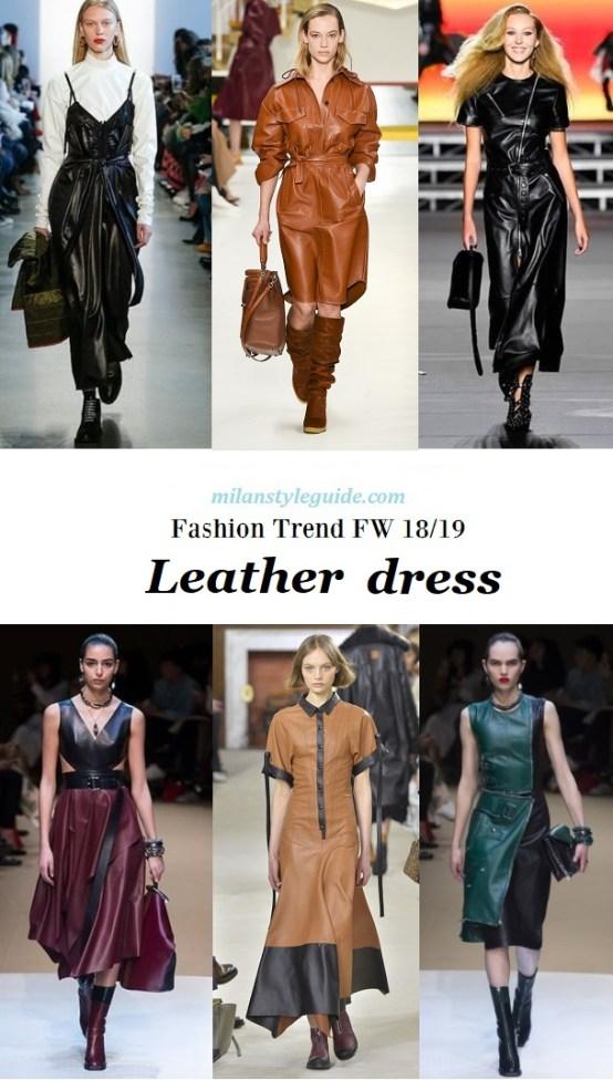 fashion trend Leather dress