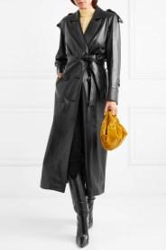 модное кожаное пальто осень 2018 зима 2019