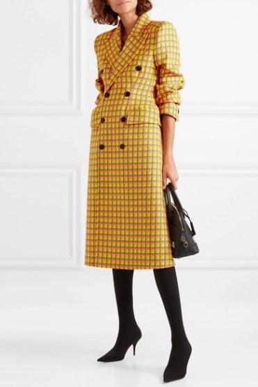 модное пальто в клетку осень 2018