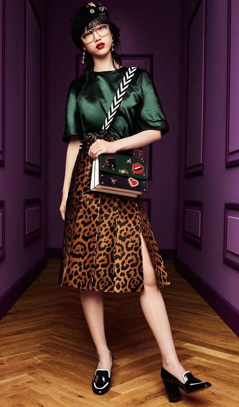 леопардовая юбка Дольче Габбана