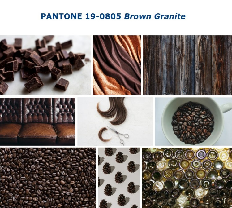 PANTONE 19-0805 Brown Granite коричневый гранит