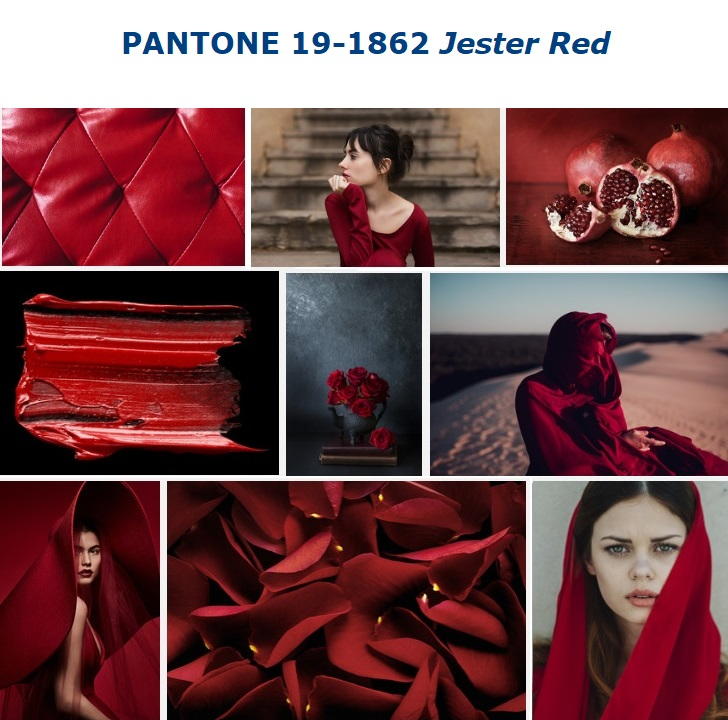 Color trend SS 2019 PANTONE 19-1862 Jester Red SS 2019