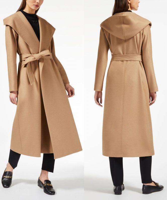 Кашемировое пальто Макс Мара 2018 на запахе длинное