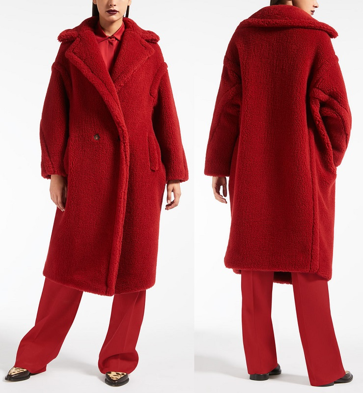 Max Mara Teddy Bear Icon Coat red