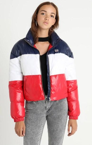 Levis модный пуховик в стиле 80-х- тренд зима 2018 2019
