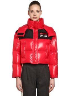 Miu miu модный пуховик в стиле 80-х- тренд зима 2018 2019