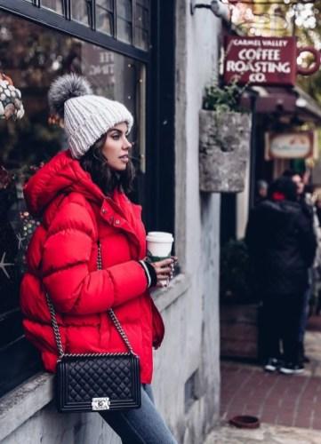 winter 2018 street style trends puffer