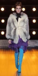 Braschi модная итальянская шуба из песца зима 2019 в Милане