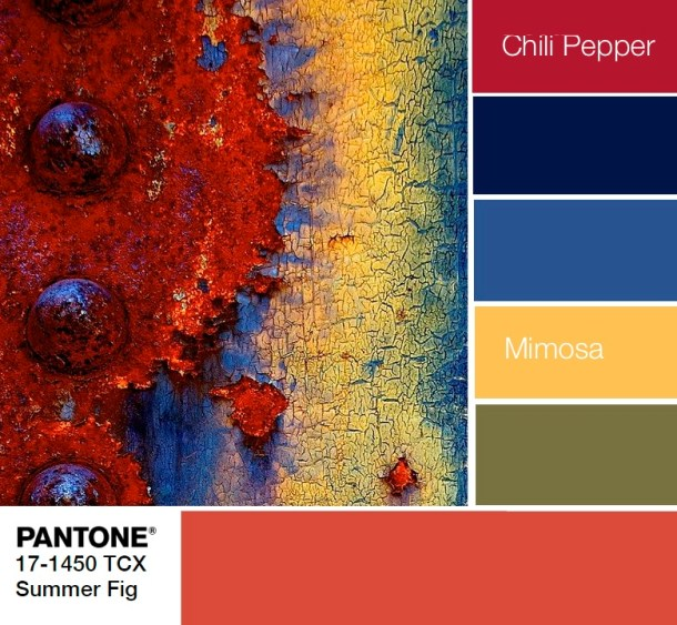 PANTONE 17-1450 Summer fig palette