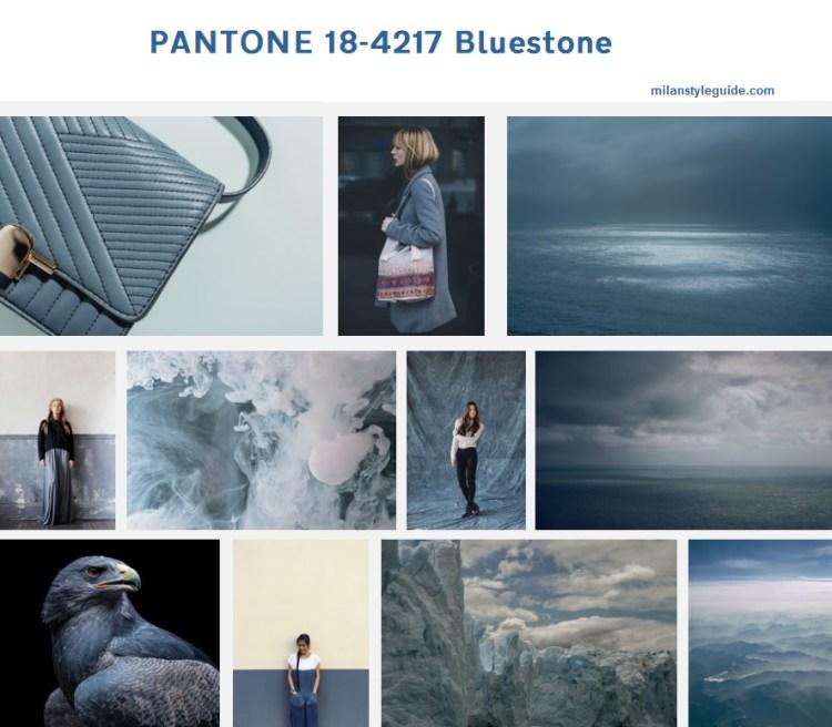 PANTONE 18-4217 Bluestone модный цвет осень зима 2019/2010