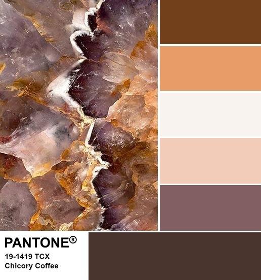 PANTONE 19-1419 Chicory Coffee Palette